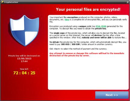 Cryptolocker: el virus informático que cifra todos tus archivos y te pide que pagues un rescate
