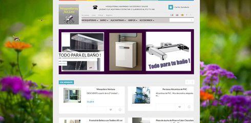 Nuevos apartados y una nota de color para la tienda online de Mosquiteras Julian