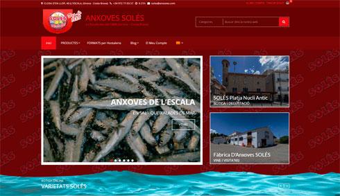 Nueva web para Anchoas de L'Escala SOLÉS