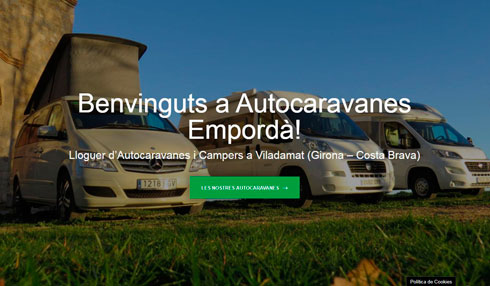 Nova web per a Autocaravanes Empordà – Lloguer d'autocaravanes i campers Girona Costa Brava