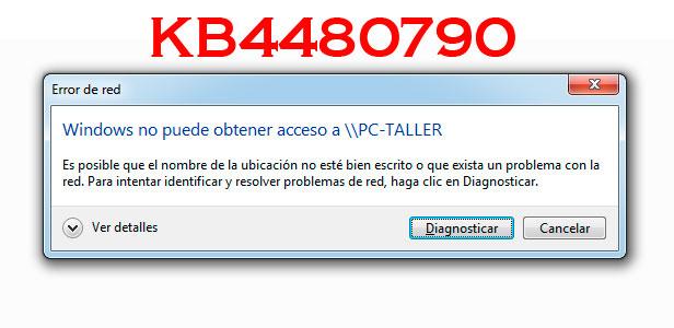 La reciente actualización KB4480970 de Windows 7 y Server 2008 bloquea el acceso a carpetas compartidas.