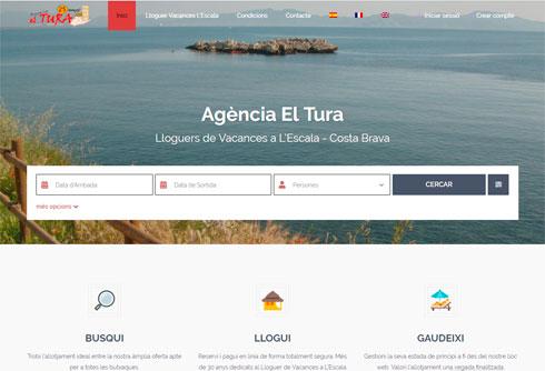 Nova web per a Agència El Tura – lloguers de vacances a L'Escala
